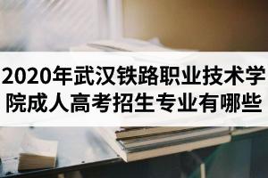 2020年武汉铁路职业技术学院成人高考招生专业有哪些?