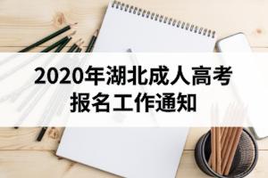 2020年湖北成人高考报名工作通知:9月1日开始网上报名
