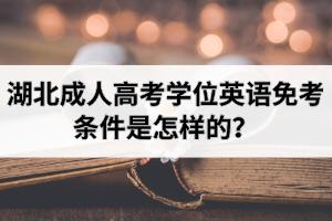 湖北成人高考学位英语免考条件是怎样的?申请学位证可以免考学位英语吗?