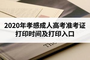 2020年孝感成人高考准考证打印时间及打印入口