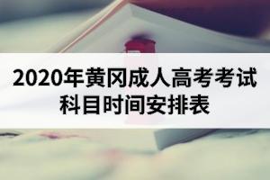 2020年黄冈成人高考考试科目时间安排表
