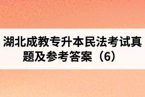 湖北成教专升本民法考试真题及参考答案(6)