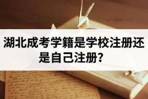 湖北成考学籍是学校注册还是自己注册?注册之后什么时候可以查到?