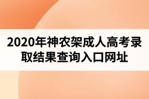 2020年神农架成人高考录取结果查询入口网址
