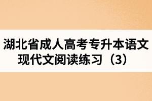 湖北省成人高考专升本语文现代文阅读练习(3)