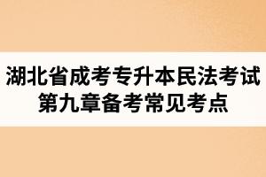 湖北省成人高考专升本民法考试第九章备考常见考点与知识点