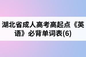 湖北省成人高考高起点《英语》必背单词表(6)