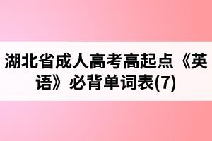 湖北省成人高考高起点《英语》必背单词表(7)