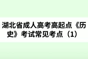 湖北省成人高考高起点《历史》考试常见考点(1)