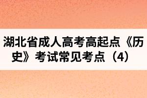 湖北省成人高考高起点《历史》考试常见考点(4)