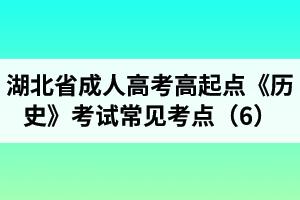 湖北省成人高考高起点《历史》考试常见考点(6)