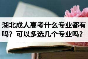 湖北省成人高考什么专业都有吗?报名时可以多选几个专业吗?