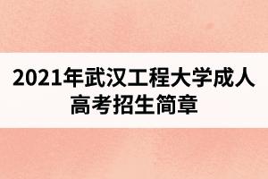 2021年武汉工程大学成人高考招生简章